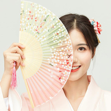 Flower-Fan Hand-Fans Bamboo Folding Party-Hand Dance-Party Vintage Chinese Personalized