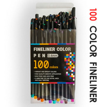 12/24/36/48/60/100 0.4mm Fine Tip Art Marker Pen  Fineliner Pens Smooth Sketch Pen Art Supplies for Animation Manga Drawing