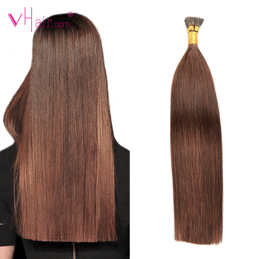 VHair I Tip Hair Extensions Remy Hair Pre Bonded I Tip Extensions Natural Color 20'' 1g/s 50-100g Remy Fusion Human Keratin Hair