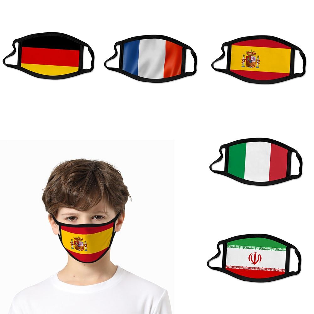 2020 NEW 3D National Flag Face Mask For Kids Women/Men United States Mask Spain Italy Anti Dust Reusable Street Face Mask
