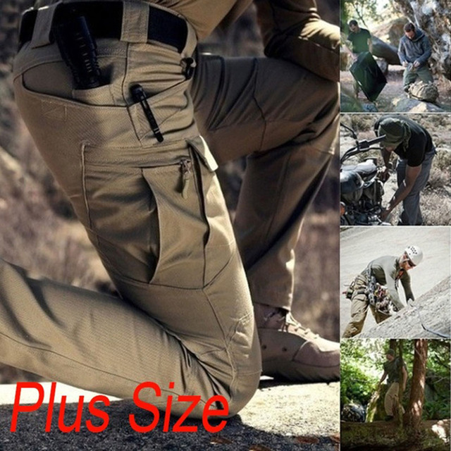 6XL Men Casual Cargo Pants Classic Outdoor Hiking Trekking Army Tactical Joggers Pant Camouflage Military Multi Pocket Trousers 2