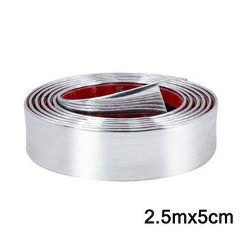 Zubehör neue Universal gummi Auto Tür Stoßstange Dekoration Moulding Trim Streifen Chrom Silber 2,5 m * 5cm