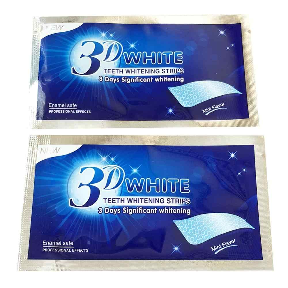 28 adet/14 çift 3D beyaz diş beyazlatma şeritleri jel Essentials bakım ağız hijyeni gülümseme temiz diş diş beyazlatma araçları