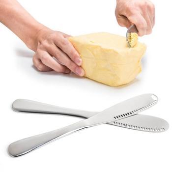 3 en 1, cortador de mantequilla de acero inoxidable, esparcidor de mermelada de postre, esparcidor de crema, raspado, multifuncional, cortador de mantequilla de acero inoxidable, Chees