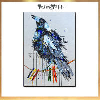 Hand painted oil painting birds wall picture knife painted on the canvas wall decoration artist and for the sitting room sofa pi