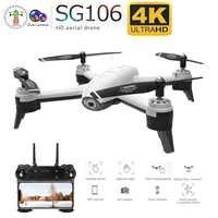 SG106 WiFi FPV RC Drone 4K aparat optyczny przepływ 1080P HD podwójny aparat antena wideo zdalnie sterowany quadcopter samolot Quadrocopter zabawki Kid