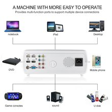 1080P HD Video Projector 2600 LM Home Cinema Theater Support 1080P HD 3D with 5.0 Inch LCD TFT Display + Free HDMI BL20 EU Plug цена 2017