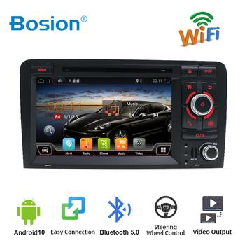 Bosion 7'' HD Android 10 Quad Core Car Radio Stereo DVD Player GPS For Audi A3 8P 2003-2011 2 din car multimedia dvd player GPS image