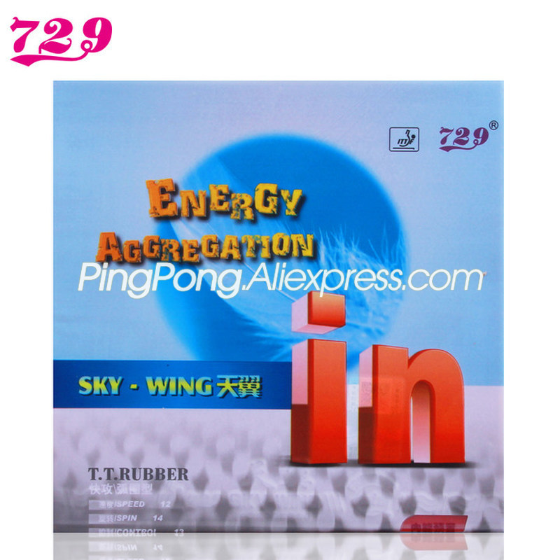 Friendship 729 Sky Wing IN / Skywing Factory Tuned Light Weight Backhand 729 Table Tennis Rubber Ping Pong Sponge
