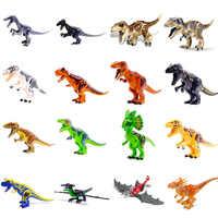 Neue Jurassic Welt 2 Bausteine Dinosaurier Zahlen Bricks Tyrannosaurus Rex Indominus Rex ICH-Rex Montieren Legoinglys Kinder Spielzeug