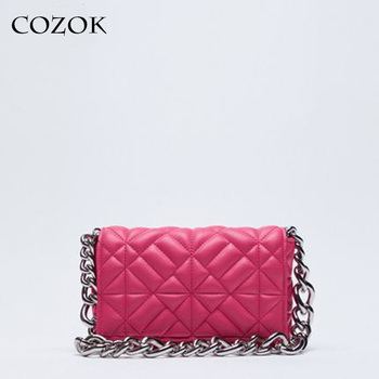 Soft Gold Metal Chain Pu Leather Armpit Retro Shoulder Small Square Bag Top Quality Luxury Brand Crossbody Bag for Woman 2021 1