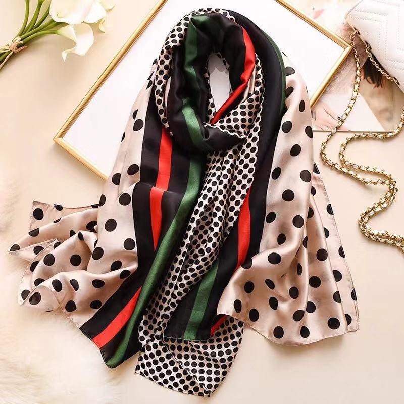 2019 Free Shipping Summer Autumn Women Fashion Silk Scarves Ladies Chiffon Shawl Beach Wrap Bandanna Muffler Female Scarf Pareo