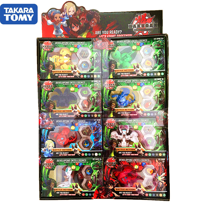 TOMY BAKUGAN 8pcs/box NEW Bakugan Toupie Metal Fusion Met Monster Ball Gyro Atletiek Speelgoed Christmas Gift