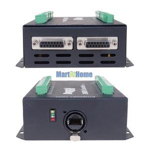 "Image 5 - High end DM800 Ethernet 3/4/5 Axis CNC Control System Offline Controller Support G code U disk Read 3.8"" TFT MPG & Estop Button"