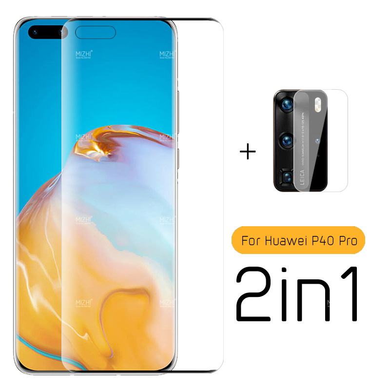 2 In 1 Protective Glass For Huawei P40 Pro Camera Lens Screen Protector On Huwei Hvawei P 40 Pro Plus P40pro Els-an00 Glass Film