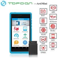 TOPDON ArtiMini otomatik teşhis aracı yazılımı otomotiv tüm sistemi OBDII OBD2 Bluetooth tarayıcı WiFi tam fonksiyon pk X431 artıları