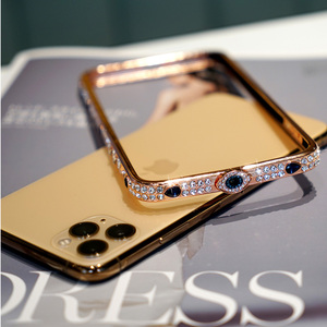 Image 5 - Shining Diamond Gliter phone cases for iPhone 11 PRO MAX X XS XR 6 7 8 plus metal Jewelry bumper bling covers for iphone capas