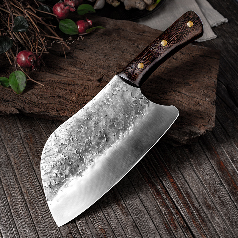 Stainless Steel Handmade Forged Kitchen Knives Meat Cleaver Vegetable Chopper Kitchen Chopping Knife Cutter Dropshipping|Kitchen Knives| - AliExpress