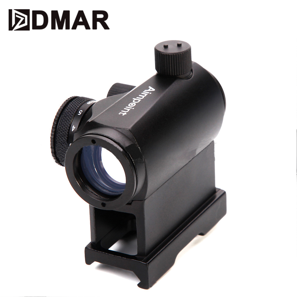 T1 Red Dot Sight AimPoint Mini Collimator Optical Tactical Scope Hunting 20mm Rail Rifle Scope Airsoft Telescope Finder image