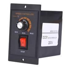 Controlador de velocidad del Motor 120W AC 220V, regulador de velocidad con imán permanente de CC