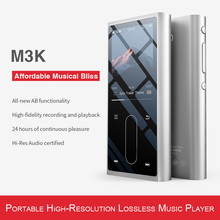 FiiO M3K Metal case Sport Audio Mini Lcd screen HiFi Mp3 Player Music Audio Mp 3 With Voice Recoder for Student,Kids
