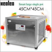 XEOLEO Ice Fry machine Roll Ice cream machine Roll Ice machine Intelligent temperature control 45cm Square pan fried ice maker