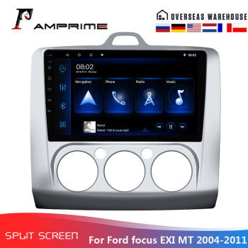 AMPrime Android Car Stereo Radio For Ford focus Exi MT 2004-2012 2Din Multimedia Video Player GPS Navigation Bluetooth Car audio image