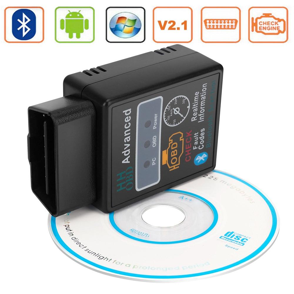 ELM327 V2.1 HH OBD2 II Bluetooth Scanner Car Diagnostic Tools For Hyundai Kia Tucson Ix20 Ix25 I20 Solaris Santa Forte Ceed Soul