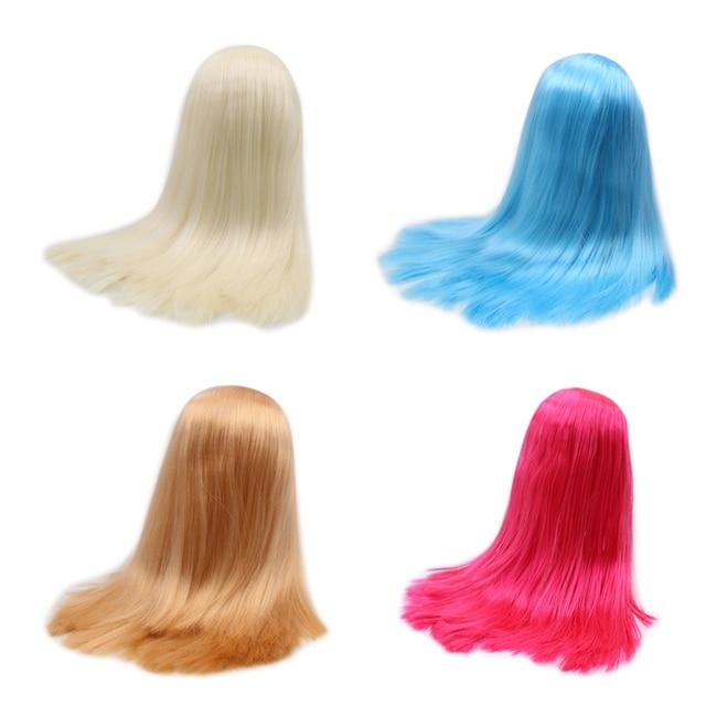 Blyth دمية شعر مستعار الجليدية فقط rbl فروة الرأس وقبة شعر مستقيم لتقوم بها بنفسك دمية مخصصة