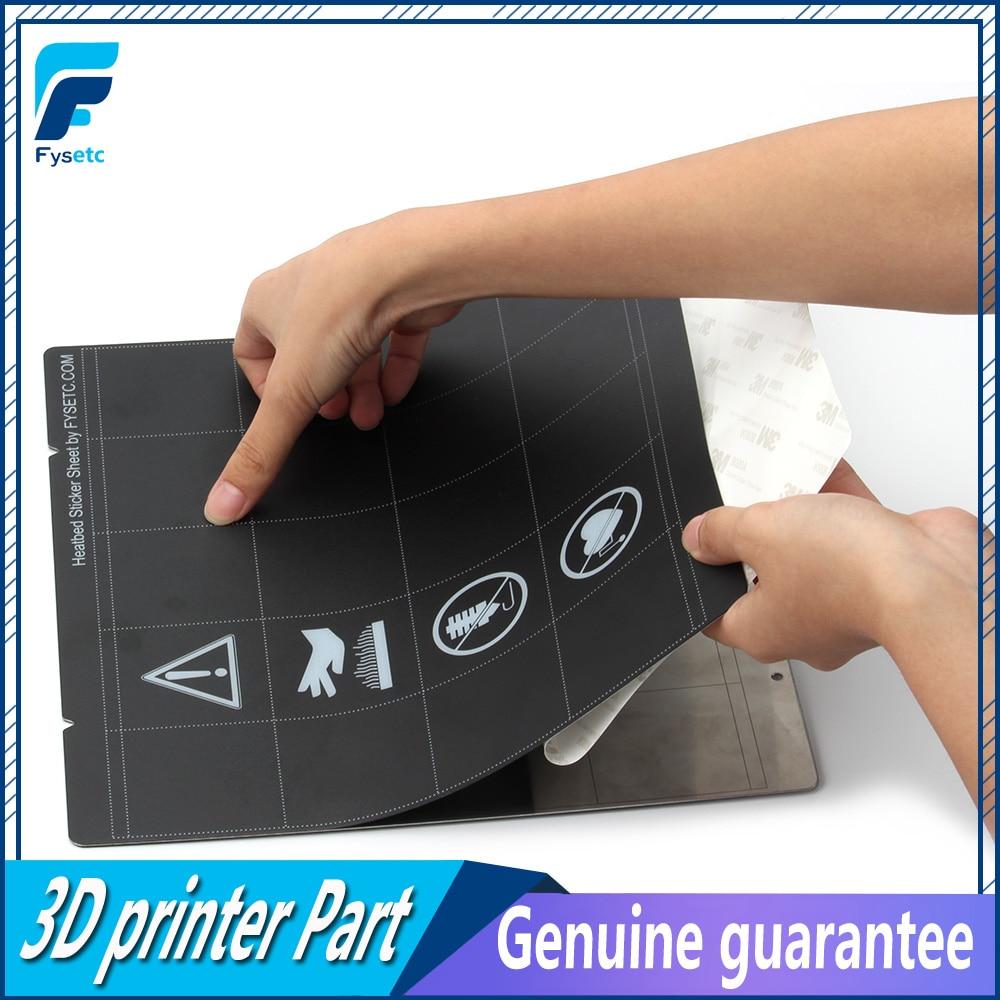 Lastest 3D Printer Buildplate Sticker Sheet Black Prusa I3 MK3 MK52 Sheet Heat Bed Platform For Prusa I3 Mk3 Mk2.5 Heat Bed