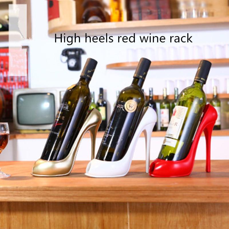 High Heel Shoe Wine Rack Wine Bottle Holder Stylish Rack Gift Basket Accessory Home Kitchen Bar Tools Red Wine Storage Holder