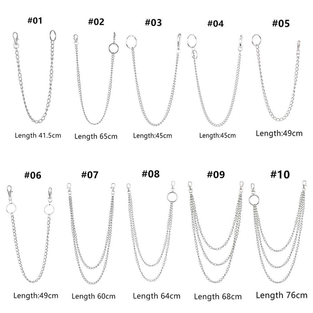 1PC Metal ulicy duży pierścień brelok do kluczy Rock Punk hak Hipster spodnie portfel łańcuszek do spodni moda biżuteria HipHop akcesoria