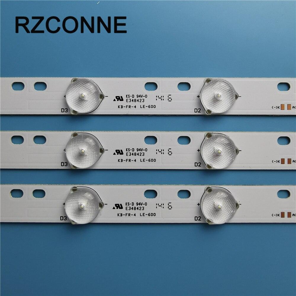 3pcs 32'' 570mm*17mm 10leds LED Backlight Lamps LED Strips W/ Optical Lens Fliter For TV Monitor Panel 30V New