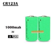 2X16340 1000 мАч 3v cr123a 16340 аккумуляторная батарея 3,0 v rcr123a 16340 литиевых батарей