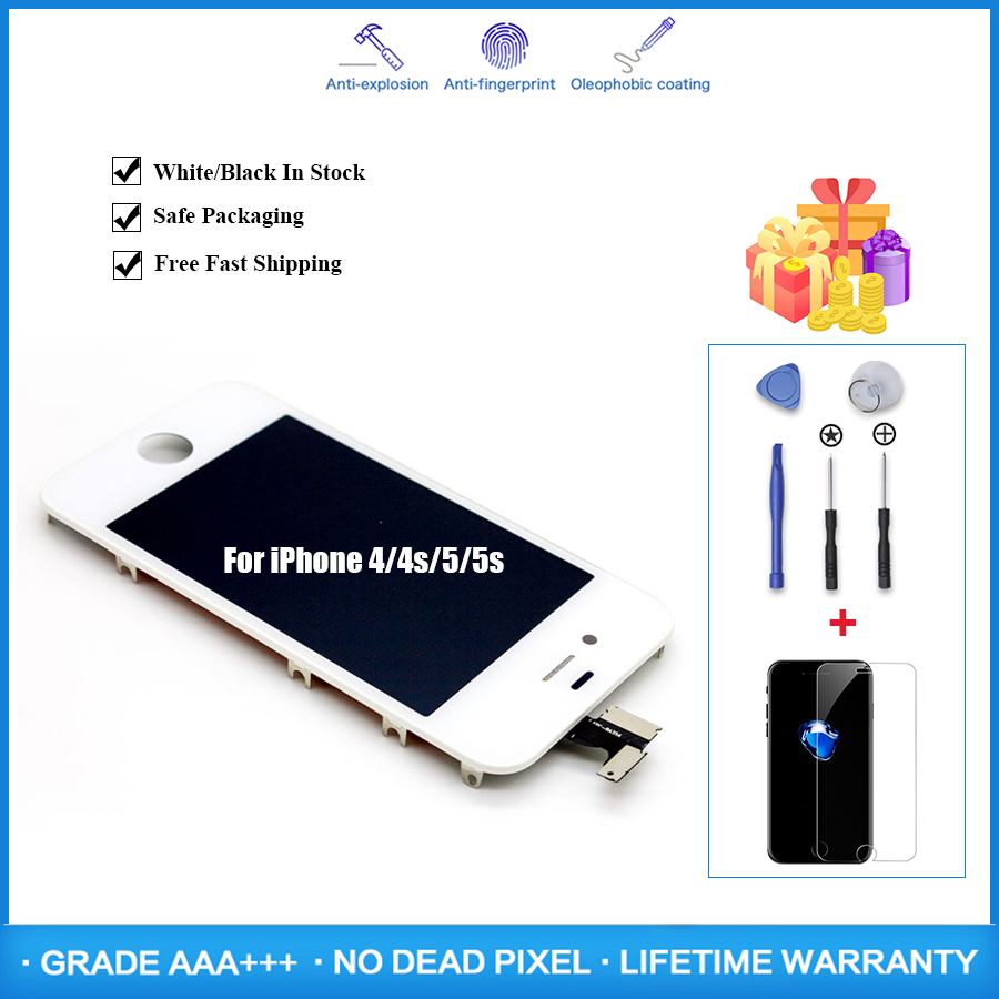 Lifetime Assurance Pantalla LCD for <font><b>iPhone</b></font> <font><b>5</b></font> 5s 6 6s 6Plus <font><b>Ecran</b></font> Screen Digitizer Assembly LCD Replacement Display No Dead Pixel image