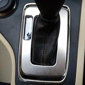 Image 2 - עבור מאזדה bt50 2012 2019 נירוסטה LHD רכב קדמי התיכון פנים הילוכים כיסוי לקצץ מדבקת פנל אבזרים 1pcs