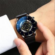 Watch Men 2020 Ultra-Thin Business Men Watches Quartz Stainless Steel Band Wrist Watch Male Calendar Clock Relogio Masculino special design fashion turntable dial paidu net mesh steel band wrist quartz watch men women relogio masculino male clock gift