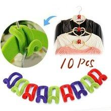 10/50/100 adet Mini yaratıcı giysi kancaları askıları akın elbise askı kancası dolap Organizador uzay tasarrufu