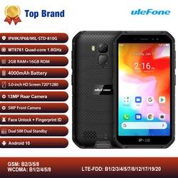 Перейти на Алиэкспресс и купить ulefone armor x7 ip68/ip69k rugged mobile phone 5дюйм. android 10 mtk6761vwe quad core 2gb+16gb face id 4000mah 4g smartphone nfc