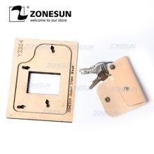 ZONESUN S004 Custom עור מפתח שרשרת למות חתכים עבור בעבודת יד מפתח כיסוי מפתח Fob לתלות קישוט חיתוך Clicker למות פלדה כלל למות