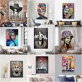Картина для портрета банкси, Картина на холсте, настенная живопись, граффити, абстрактные женские поп-постеры и принты для домашнего декора