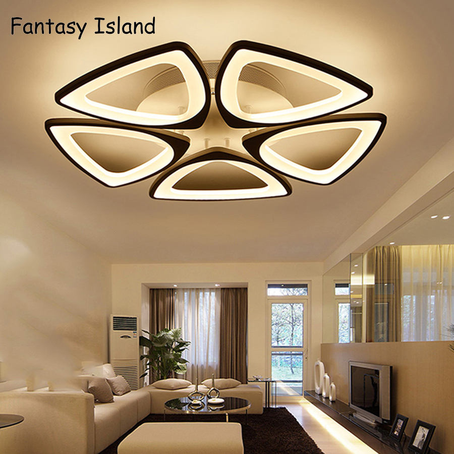 Acrylic LED Ceiling Lighting Modern Minimalist Living Room Bedroom Restaurant Study Lamp AC220V Dimmable Fixtures