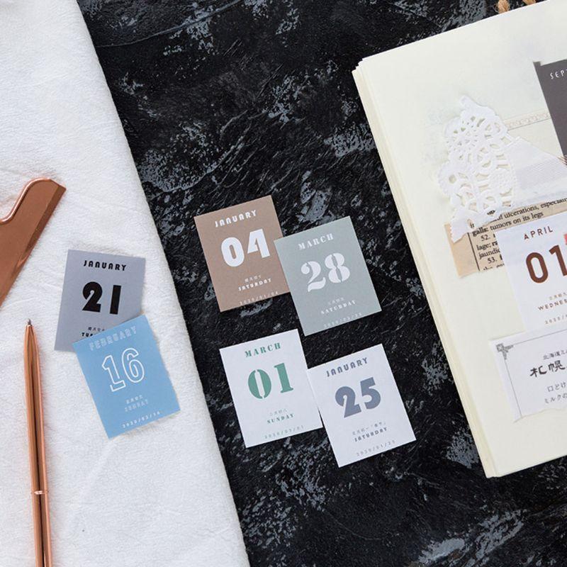 Mini 2020 Desktop Calendar Daily Planner Book Annual Agenda Organizer Paper DIY