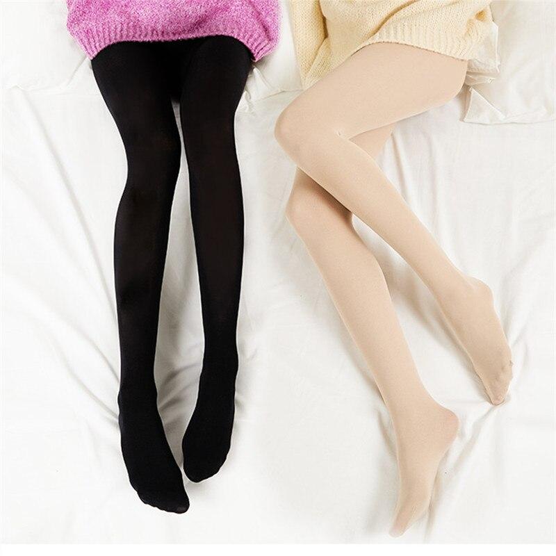 2019 New  Sexy Women Tights 120D Warm Autumn Winter Women Pantyhose Velvet Tights High Elastic Stockings Anti-hook Female Girl