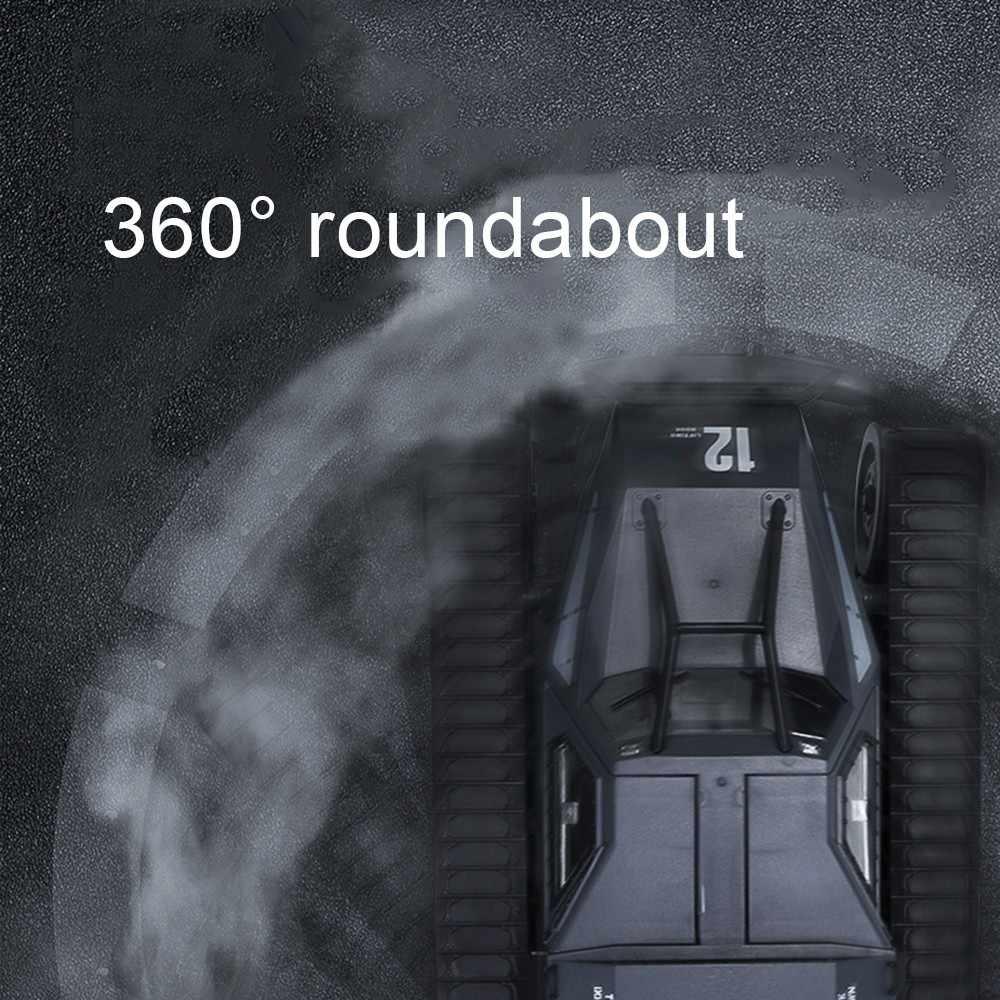 2.4G RC ถังสี่ล้อขนาดใหญ่รถบรรทุกทหาร 1:12 การจำลองขนาดใหญ่ถังไดรฟ์ความเร็วสูง Drift ถัง Off-road RC รถ