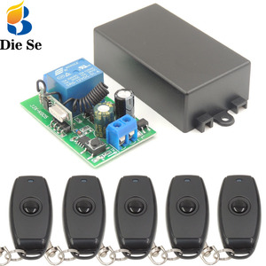 Image 1 - DieSe Newest 1 Button Universal Wireless Remote Control and 433Mhz AC 85~220V 1CH Relay Receiver Module For LED and Light Lamp