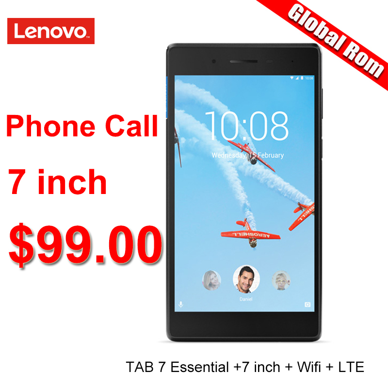 Lenovo 7 Inch LTE 4G Phone Call 1G RAM 16G ROM Quad Core 64bit  Android 7 Tablet Pc GPS 3450mAh Wifi TB 7304N  7304x 7504x
