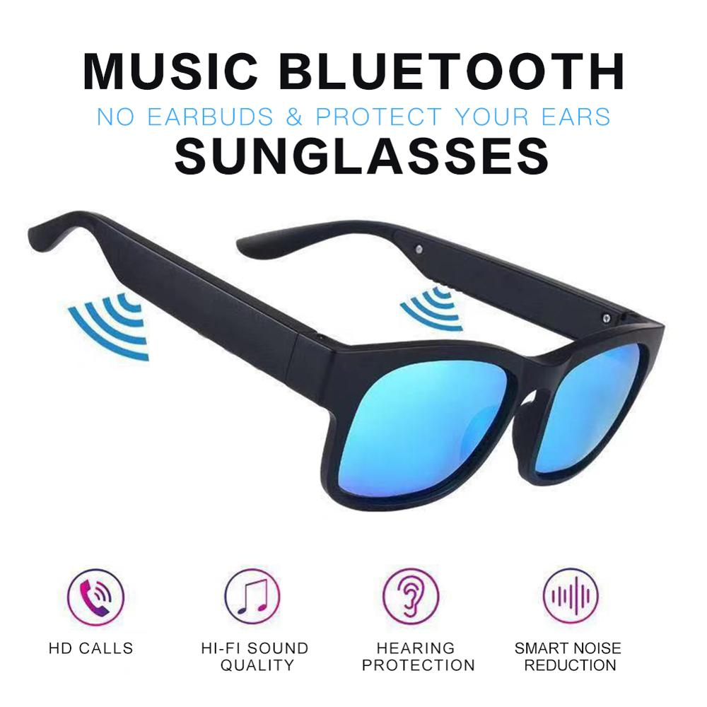 Smart Bluetooth Glasses Bluetooth 5.0 Stereo Bluetooth Headset Outdoor Sunglasses Outside The Speaker IP7 Waterproof
