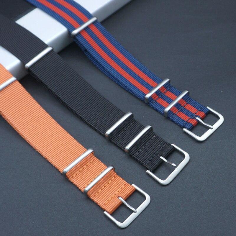 20mm 22mm Sports Nato Strap Fabric Nylon Watchband Premium Quality Herringbone For 007 James Bond Watch Strap For Military Watch