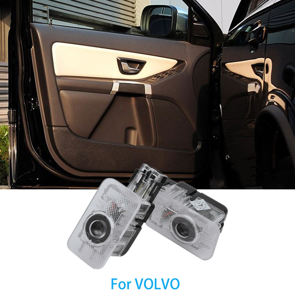 2x Car LED door welcome light projector laser Ghost Shadow lamp for <font><b>VOLVO</b></font> <font><b>XC60</b></font> XC90 S80 60 S60 S80L S60L V60 V40 Car logo light image